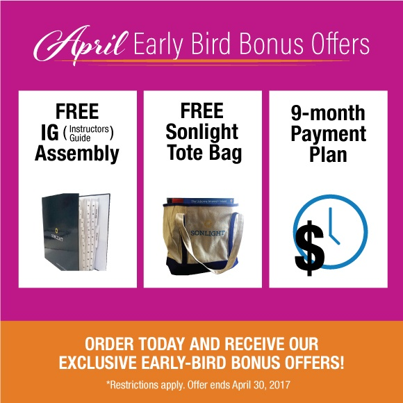 April Promo: Free IG Assembly, Free Tote, and 9-month Payment Plans
