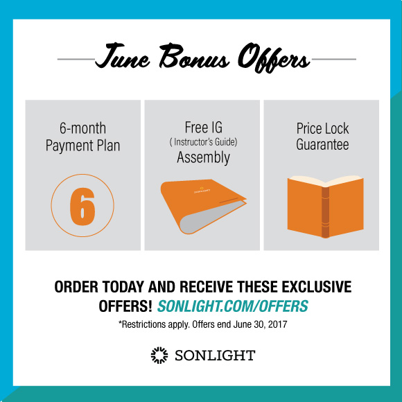 June Bonus Offers from Sonlight