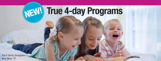 New True 4-Day Homeschool Programs
