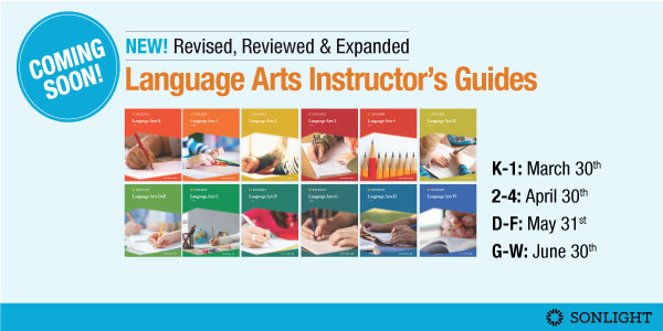 Totally Revised, Reviewed and Expanded Language Arts Instructor's Guides for Levels K through F