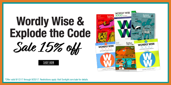Save 15% on Select Wordly Wise & Explode the Code Packages