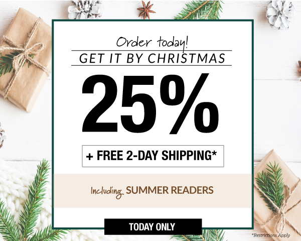 Today only: Save up to 25% PLUS get FREE 2-day shipping on qualifying orders