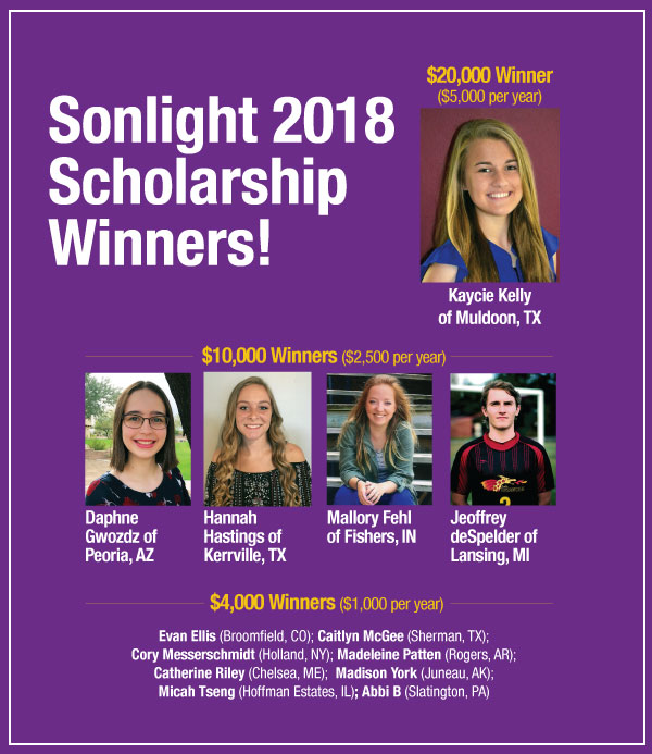 2018 Sonlight Scholarship Winners Announced