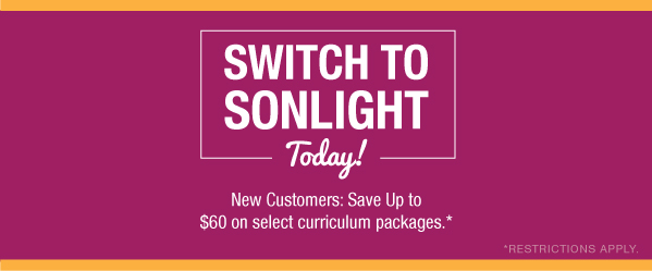 Switch to Sonlight today and save up to $60