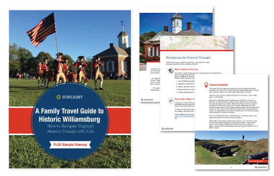 Free Family Travel Guide to Historic Williamsburg