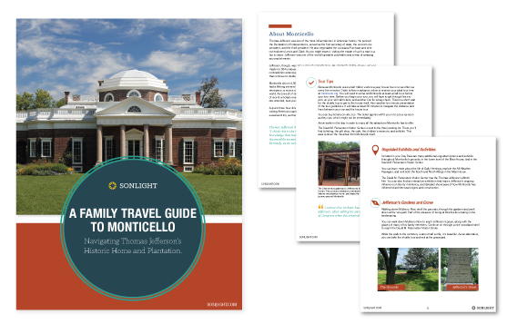 Free Family Travel Guide to Thomas Jefferson's Monticello