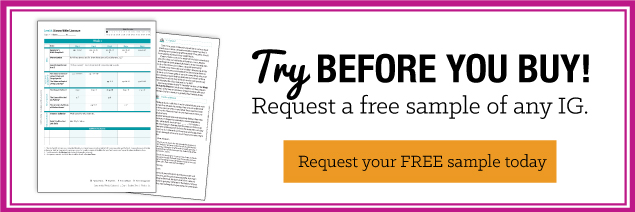 TRY BEFORE YOU BUY! Request a free sample of any IG