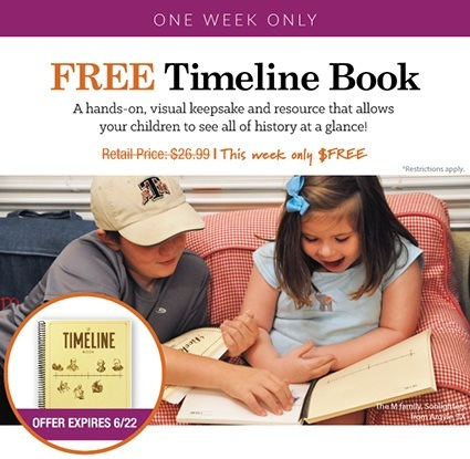 Order this week and get your Timeline Book FREE