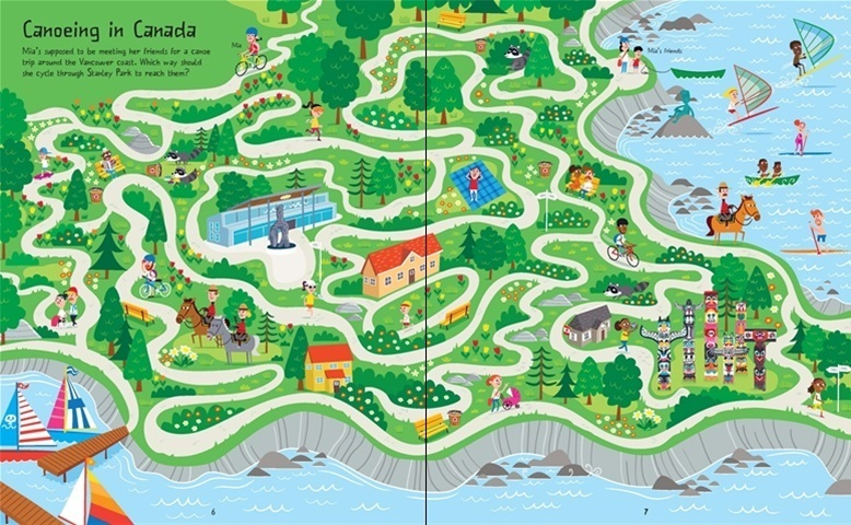 Around the World Mazes example: Canada