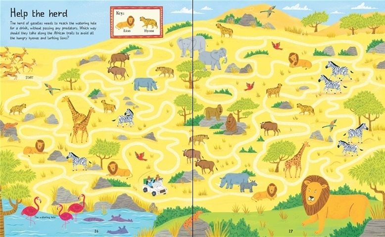 Around the World Mazes example: Africa