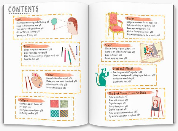 This Book Thinks You're an Artist: contents