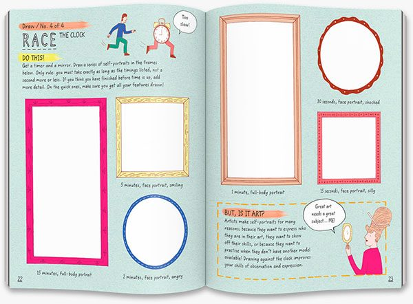 This Book Thinks You're an Artist: race the clock