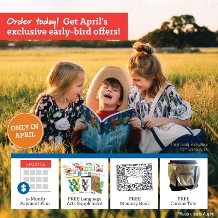 April's Exclusive Early-Bird Offers
