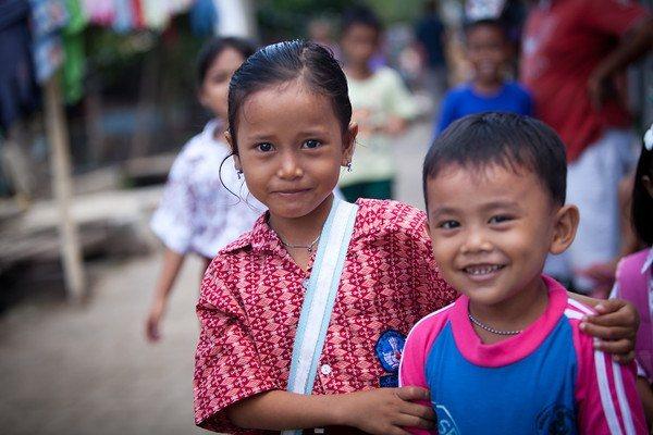 Children in Jakarta, Indonesia