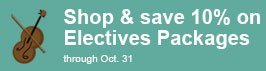Save 10% on Electives Packages through October 31.