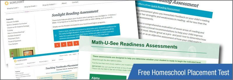 Determining Placement For Your Child >> Free Homeschool Placement Tests Homeschool Testing