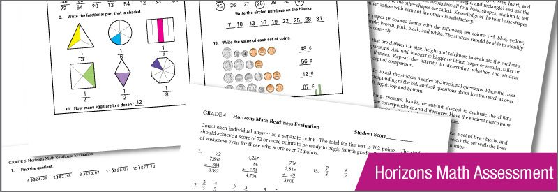 Horizons Math Placement Test Horizon Learning Assessment