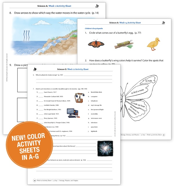 Activity Sheets now in full color