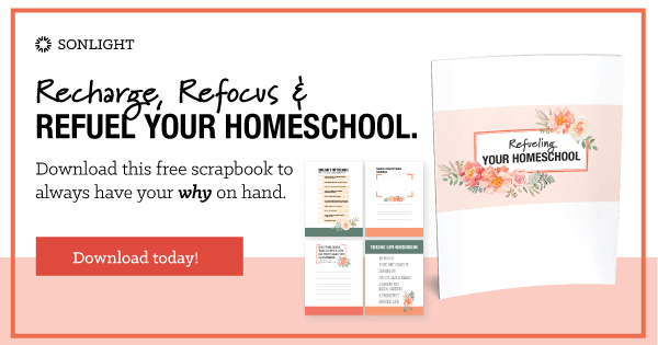 Recharge, Refocus, and Refuel Your Homeschool. Download this free scrapbook to always have your why on hand. Download Today!