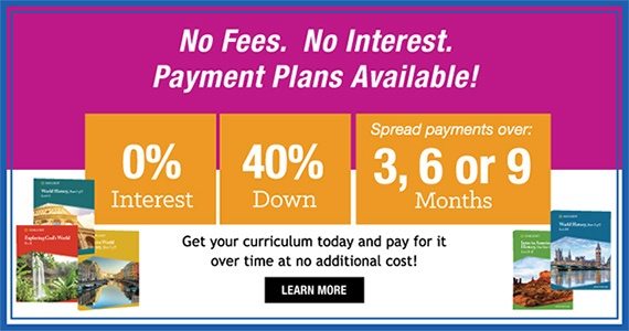 No Fees. No Interest. Payment Plans Available!