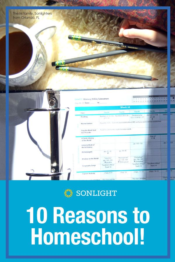 10 Reasons to Homeschool