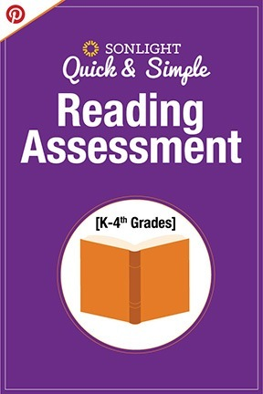 Quick & Simple Reading Assessment (for K-4th grades) | FREE | Homeschool