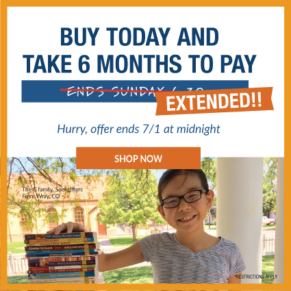 Extended through July 1st: 6-Month Payment Plan. Shop Now!