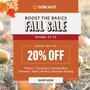 Boost the Basics Fall Sale: October 14–21. Enjoy up to 20% off