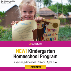 New! Kindergarten Homeschool Program: Exploring American History for Ages 5–6. Click to Learn More.