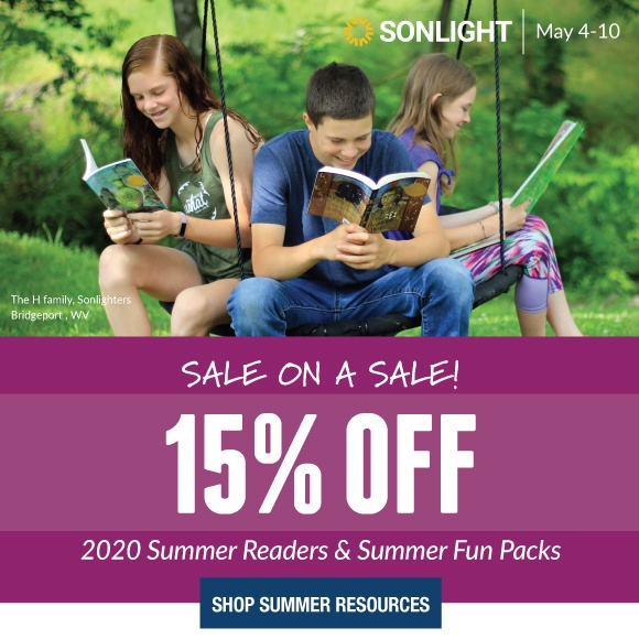 SALE ON A SALE! 15% OFF SUMMER READERS and SUMMER FUN PACKS. Let summer books and activities take you on a vacation...without leaving your backyard!