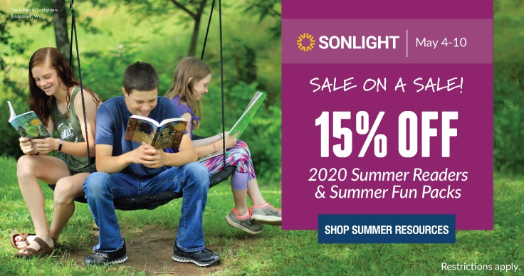 15% OFF SUMMER READERS! Let reading take you on summer adventures! 15% off NEW 2020 Summer Readers for all ages.
