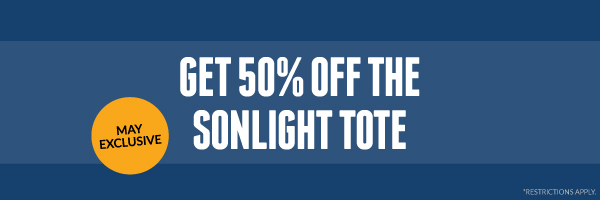 MAY 2021 EXCLUSIVE: Get 50% off the Sonlight Tote with qualifying purchase