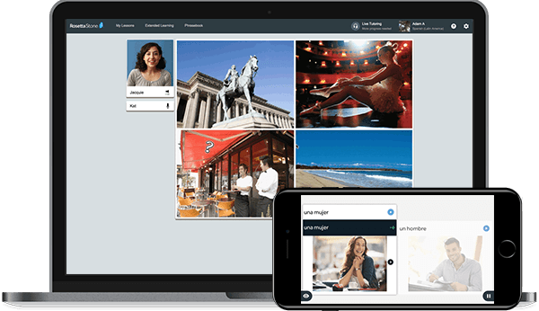 Rosetta Stone works on any device: Desktop, laptop, tablet, phone
