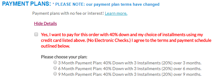 I want to use a Payment Plan